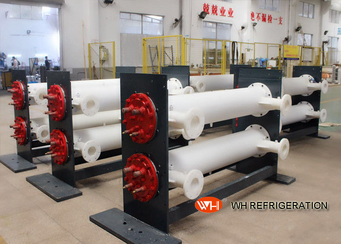 Dry Horizontal Shell And Tube Condenser Stainless Steel For Water Cooled Unit