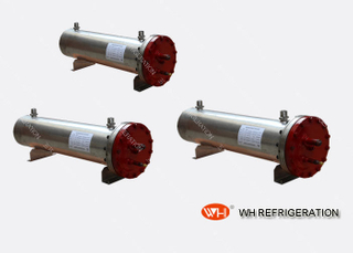 SS 304 Stainless Steel Heat Exchangers Shell And Tube Heat Exchangers For Plating Chiller