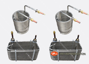 Industrial Stainless Steel Tube Coil Heat Exchanger For Water Chiller / Water Tank