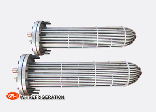 Flooded Shell And Tube Evaporator Corrosion Resistant Titanium Tube Material