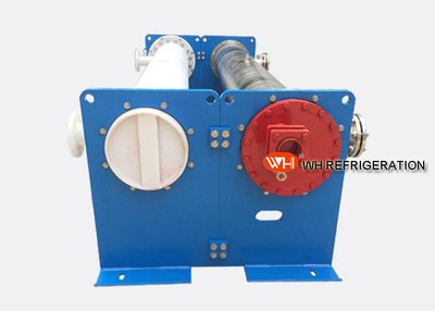 Double tube plate heat exchanger water cooled chiller evaporator shell pipe heat exchanger