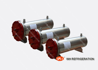 Industrial Steel Shell And Tube Type Heat Exchanger 18.6kw Cooling Capacity