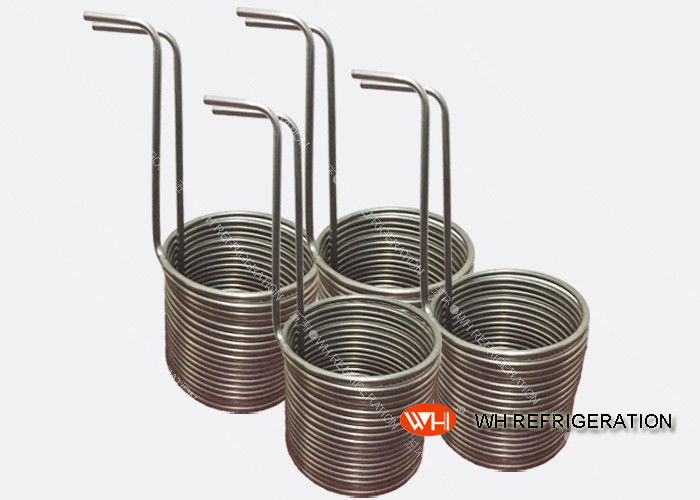 Stainless Steel Tube Heat Exchanger / Immersion Coil Heat Exchanger For Mariculture