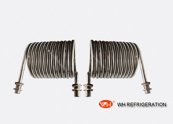 Immersion Pipe Coil Heat Exchanger , Titanium Coiled Tube Wort Chiller For Swimming Pool