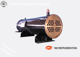 High Efficient Water Cooled Marine Heat Exchanger , Shell and Tube Condenser