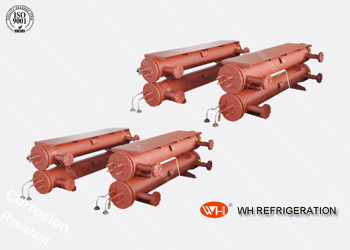 Anti-corrision Air Cooled Cased Industrial Chiller, Heat Exchanger Refrigeration Shell And Tube Heat Evaporator