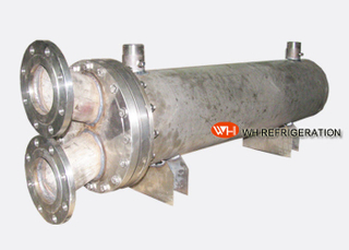 Water Cooled Shell & Tube Titanium Heat Exchanger For Marine Engine / Boat Engine