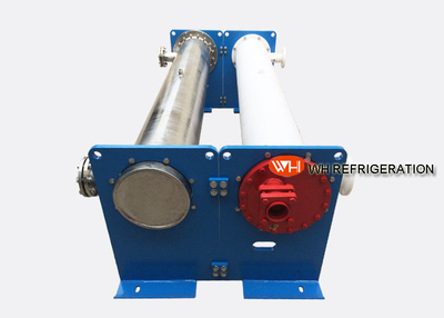 High Pressure Shell And Tube Evaporator For Industrial Chiller Easy Installation