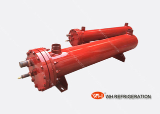 20kw Sea Water Shell And Tube Type Evaporator , Horizontal Marine Heat Exchanger