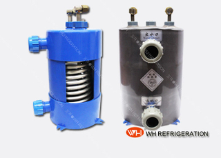 0.5HP Salt Water Heat Exchanger , Aquarium Chiller Titanium Tube Heat Exchanger