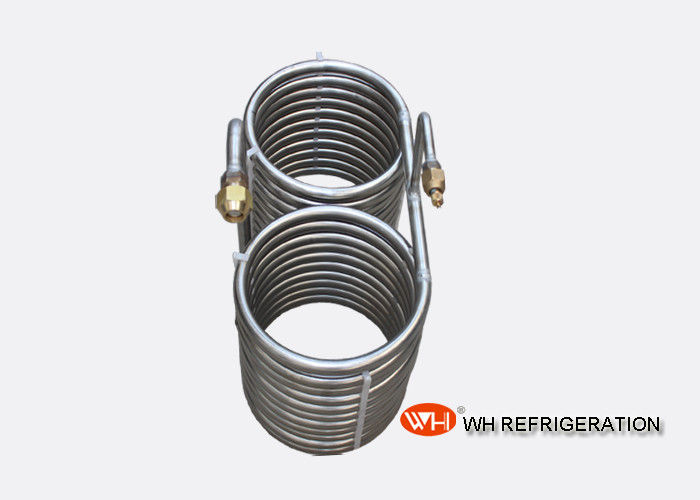 Stainless Steel Coil Type Heat Exchanger Cooler , Ice Machine Condenser Coil
