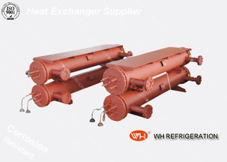 Marine Shell And Tube Type Heat Exchanger , R410A Water Cooled Condenser
