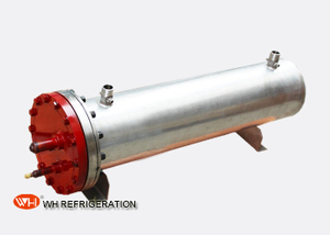 U Tube Shell And Tube Marine Heat Exchanger for Sea Water Chiller Titanium Heat Exchangers 60KW