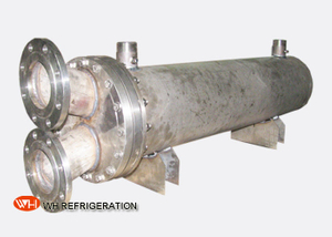 Dry Shell And Tube Titanium Seawater Heat Exchanger Water Cooled 10KW To 600KW